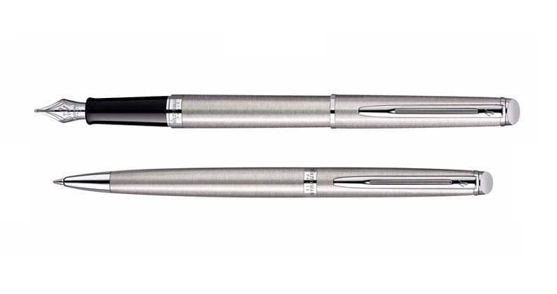 Waterman Hemisphere Steel CT Vulpen Balpen